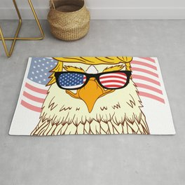 Donald Trump 2020 Eagle Bird Campaign For President T-shirt Design Presidency Politics White House Rug
