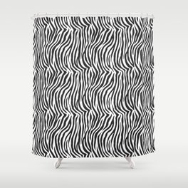 Zebra Stripes Wild Animal Print Shower Curtain