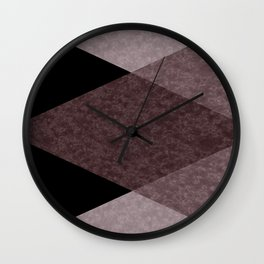 Black and brown marble Wall Clock
