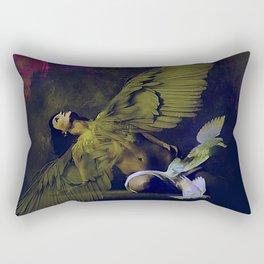 The revelation of the angel Rectangular Pillow