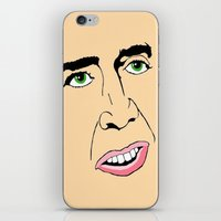 nicolas cage iPhone & iPod Skins featuring Nicolas Cage  's Face by Froleyboy