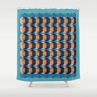 geo Shower Curtains featuring geo  by Little Things Studio