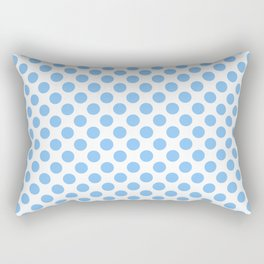 Light blue and white polka dots pattern Rectangular Pillow