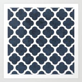 navy clover Art Print