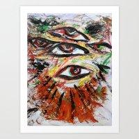 5 eyes midnight Art Print