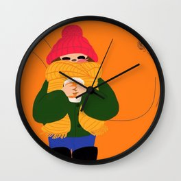 Happy Place Wall Clock