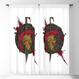 Heroic Spartan Emblem | Warrior Fighter Blackout Curtain