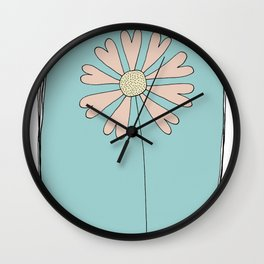 Flowers Have Hearts Wall Clock