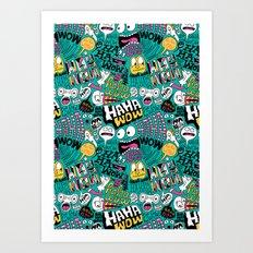 Laughing Pattern Art Print