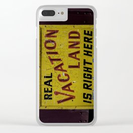 Staycation Clear iPhone Case