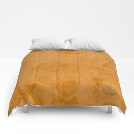 Dante Orange Stucco - Luxury - Rustic - Faux Finishes - Venetian Plaster Comforters