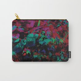 Flora Celeste Ruby Leaves Carry-All Pouch
