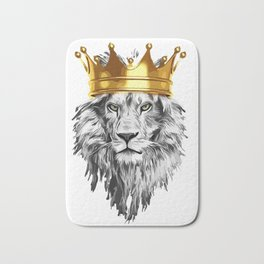 lion with a crown power king Bath Mat
