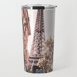 Paris Eifel Tower Pink photography in HD Travel Mug