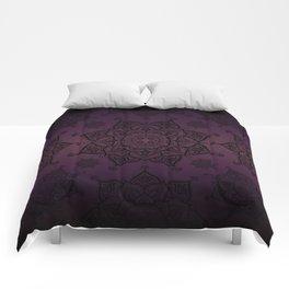 Violet & Black Mandalas Comforters