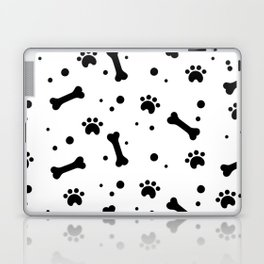 Dog's paw print and bone seamless pattern Laptop & iPad Skin
