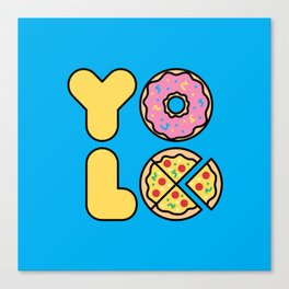 YOLO You Only Live Once Canvas Print