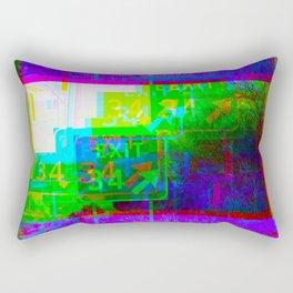 Exit 34 Rectangular Pillow