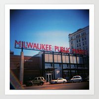 milwaukee Art Prints featuring Milwaukee by Eric Wilcox / let it unwind