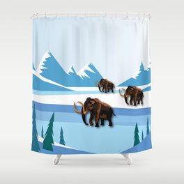 An Ice Age History Shower Curtain