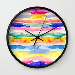 Swooshy Stripes Wall Clock