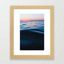 Wave after wave Framed Art Print