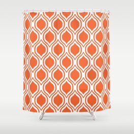 Elegant University Sports Clemson Purple And White Ogee Pattern Minimal College  Football Fan Shower Curtain