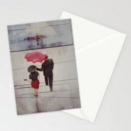 Walk In The Rain Stationery Cards