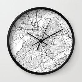 Ottawa Map White Wall Clock
