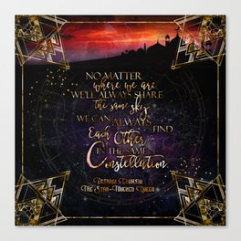 Constellation - The Star Touched Queen Canvas Print