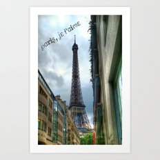 paris, je t'aime Art Print