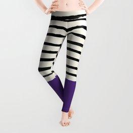 Purple Grape x Stripes Leggings