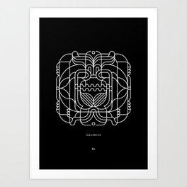 Aquarius Pattern Art Print