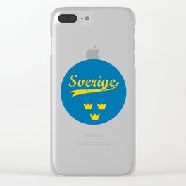 Sweden, Sverige, circle Clear iPhone Case