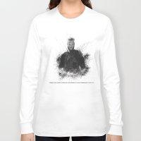 vikings Long Sleeve T-shirts featuring Ragnar Lothbrok from Vikings by Sjors van den Hout