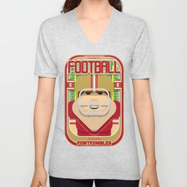 American Football Red and Gold - Enzone Puntfumbler - Bob version Unisex V-Neck