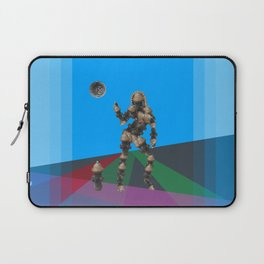 Sexy pump 1. On multicolored background. (Predominance of light blue) Laptop Sleeve