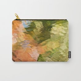 Cinnamon Mosaic Abstract Art Carry-All Pouch