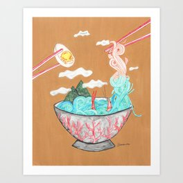 Sea Salt Ramen Art Print