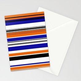 SSLICEE - Stripe, Lines, Orange, Fun, Summer, Clean Stationery Cards