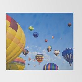 Vibrant Hot Air Balloons Throw Blanket