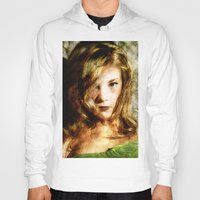 thrones Hoodies featuring Portrait of Natalie Dormer (tutors / game of thrones) by André Joseph Martin