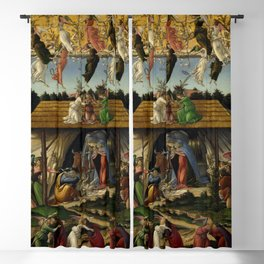 "Sandro Botticelli ""The Mystical Nativity"" Blackout Curtain"