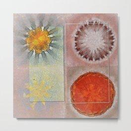 Flagonet Reality Flowers  ID:16165-093245-05721 Metal Print