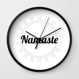 Namaste no.2 Wall Clock