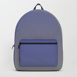 Grey and Blue Ombre Gradient Blend 2021 Color of the Year Ultimate Gray & Accent Shade Backpack