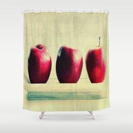 three apples Shower Curtain