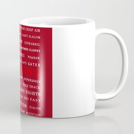 Ski Racing Burgundy Coffee Mug