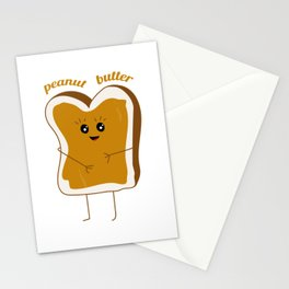 peanut butter friend Stationery Cards