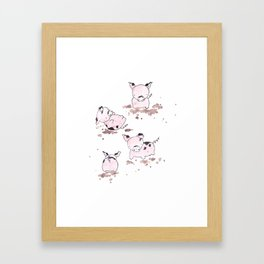 Pigs in the Mud Framed Art Print